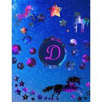 【预订】Starry Unicorns Notebook Monogram Series D: College Rule