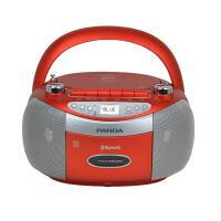熊猫/PANDA CD-830蓝牙无线音响收录音机胎教CD机磁带插卡U盘TF卡转录播放机 红