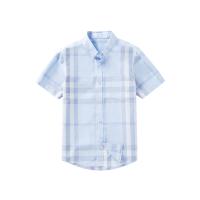 网易严选 格纹棉质短袖衬衫(男童)