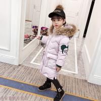 冬季童装女童冬装2018新款棉衣中长款加厚羽绒儿童冬季棉袄外套潮秋冬新款