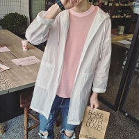 夏季防晒衣男韩版超薄透气户外外套夏天中长款防晒服薄款潮流风衣