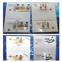 日照鑫 exo信纸 tf boys信纸吴亦凡鹿晗XOXO王俊凯 信纸套 (3包装)