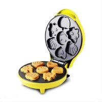 红心 蛋糕机家用全自动迷你儿童卡通烤小华夫饼烘焙早餐机鸡蛋仔机 蛋糕机
