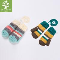 KK树新款儿童手套冬小学生手套男童女童加厚保暖手套时尚3-12岁潮