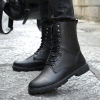 秋季新款男士马丁靴英伦风男靴子男短靴百搭皮靴高帮休闲男鞋潮靴