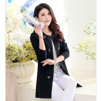 新款女装韩版修身女式开衫中长款针织衫女薄春秋大码毛衣外套