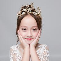 儿童头金色饰公主发卡发箍饰女孩女童皇冠演出配饰头花发花童头饰 金色