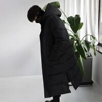 棉大衣冬季过膝盖潮男加长款外套