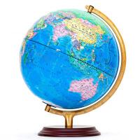 书房装饰品办公桌摆件地球仪学生用32cm高清地图儿童教学版模型