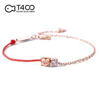 T400小猪本命年小红绳纯银手链女情侣生日礼物小众设计属猪猪饰品 3993