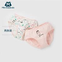 迷你巴拉巴拉女童儿童三角裤2018新款夏季幼童宝宝透气两条装