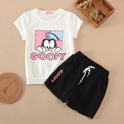 女童运动套装新款韩版中大童夏装童短袖短裤两件套