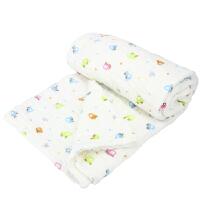 久爱久(9i9)儿童浴巾宝宝纯棉水洗纱布盖毯6层加厚