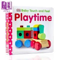 【中商原版】DK触摸启蒙 游戏时间 Baby Touch and Feel Playtime 亲子游戏时间 词汇认知启蒙