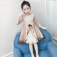 女童连衣裙春装韩版洋气童装2018新款儿童纱裙夏装公主裙女孩裙子