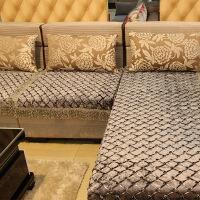 欧式沙发垫四季通用防滑坐垫布艺冬季黑色简约组合沙发套定做