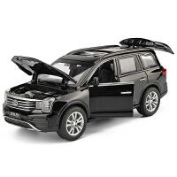 儿童玩具车国产SUV小汽车模型仿真GS8越野车合金车模 1:32回力