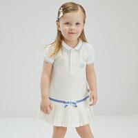 戴维贝拉女童连衣裙宝宝夏装2021新款儿童裙子小童小女孩洋气polo