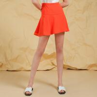 夏装新品 欧根纱荷叶边短裙雪纺半身裙Y621458Q20