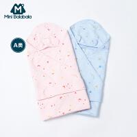 【3件3.5折价:90.65】迷你巴拉巴拉新生儿包被空气层夹棉布内着包衣儿童宝宝睡眠服包潮