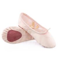 儿童舞蹈鞋软底鞋练功鞋女童芭蕾舞鞋成人幼儿园跳舞鞋粉色棉帆布