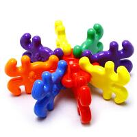 塑料积木拼插玩具 大玩具3岁以上积木玩具 36粒桶装