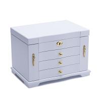 欧式首饰盒带锁公主首饰收纳盒韩国木质大容量家用饰品盒结婚礼物