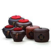 青瓷大码锡罐手工茶叶罐陶瓷紫砂大号茶具普洱密封罐
