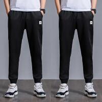 两条装 裤子男黑色小脚裤运动裤男韩版收口束脚裤男弹力裤子K522