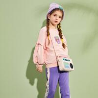 【2件3折:138.9】巴拉巴拉旗下巴帝巴帝女童长袖套装儿童圆领2020新款春装运动服韩版女