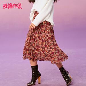 【2件3折到手价:96】妖精的口袋Y早秋复古半身裙女韩版裙子秋装新款气质碎花长裙