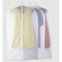 纳乐趣 中号加厚PEVA衣服防尘罩 西服套大衣罩风衣罩收纳袋60*105cm 半透明 无异味 可水洗