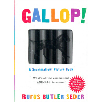 Gallop!: A Scanimation Picture Book 英文原版 神奇动画书:奔跑