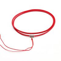 皮绳水晶吊坠项链挂绳男女款编织黄金翡翠玉佩项坠黑红色绳子情人节礼物