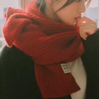 围巾女冬季韩版百搭学生系小清新加厚毛线秋冬新款围脖女Cn