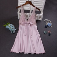 女士吊带睡裙性感蕾丝诱惑镂空夏季韩版冰仿真丝绸薄款睡衣大码