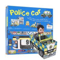 【全店300减100】英文原版 Convertible - Police car 立体拼装变形车书 警车地板玩具书启蒙英