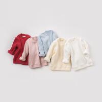 加绒戴维贝拉秋冬新款儿童套头针织衫DB9449