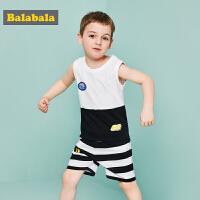 【8.26超品 3.2折价:63.68】巴拉巴拉童装男童套装小童宝宝儿童两件套夏装新款T恤裤子男