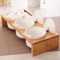 创意家居陶瓷调味罐三件套厨房调味品罐套装