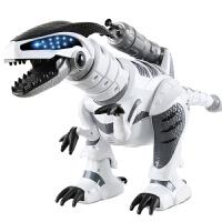 【六一新品】 儿童玩具机器人 遥控恐龙玩具电动霸王龙大号仿真动物36周岁机器人玩具男孩 充电款白色霸王龙触摸互动配送炮