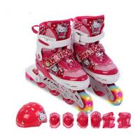 儿童直排轮滑鞋旱冰鞋滑冰鞋女童溜冰鞋