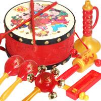 吉祥拨浪鼓宝宝波浪鼓摇铃纸皮鼓传统拨浪鼓玩具