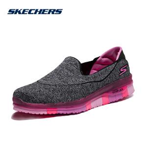 Skechers斯凯奇新款潮流轻便套脚女鞋 撞色透气低帮休闲鞋14013