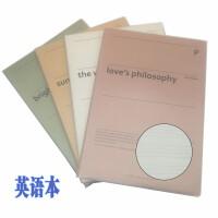 小清新B5笔记本子韩国文具16记事本简约大学生英语软抄胶套本加厚胶套英语本