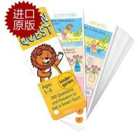 【现货】英文原版 Brain Quest Kindergarten, Ages 5-6, Revised 4th儿童智力开发系列卡片 幼儿园 5-6岁 修订版