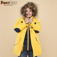 【3件2折 到手价:380】Pawinpaw宝英宝卡通小熊童装男童内胆可脱卸羽绒服中小童厚外套