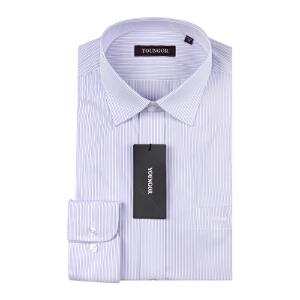 Youngor/雅戈尔男士商务秋季新品紫色条纹免烫长袖衬衫NP13131-32