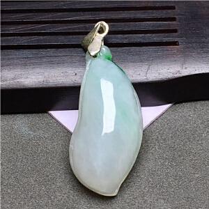 老坑冰种飘阳绿精致随形吊坠,A货带证书翡翠玉石挂件【FCD5-8A1581】