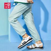 一贝皇城儿童防蚊裤2018新款灯笼裤子中大童薄款运动裤夏季韩版潮